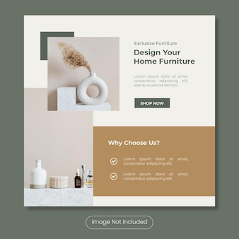 Design your own furniture instagram post banner template