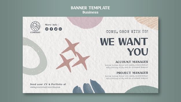 Designer career banner template