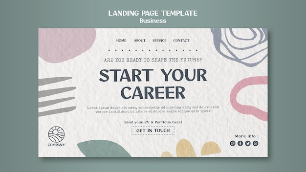 Шаблон целевой страницы карьеры дизайнера
