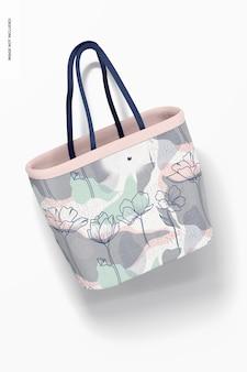 Designer shopping bag mockup, floating