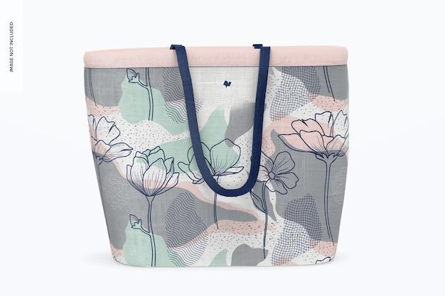 Designer shopping bag mockup, front view