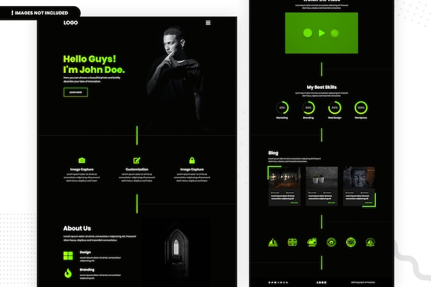 Designer website page
