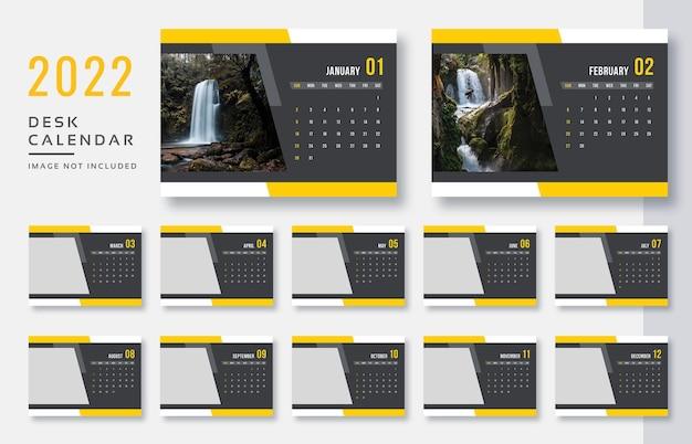 Настольный календарь 2022 с принтом готовый дизайн