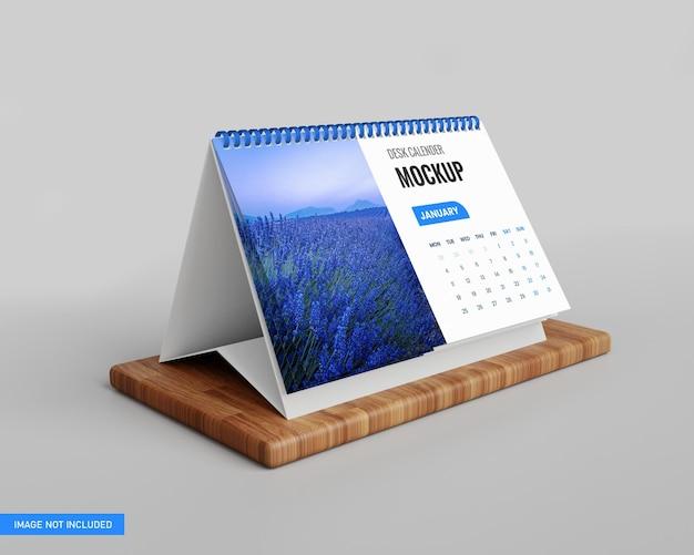 3dレンダリングでの卓上カレンダーのモックアップ