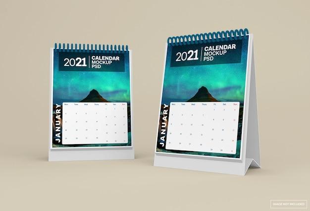 Desk calendar mockup isolated