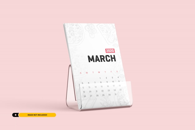 スタンドモックアップ付き卓上カレンダー
