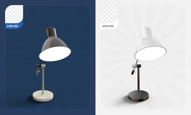 Настольная лампа 3d-рендеринга изолированные