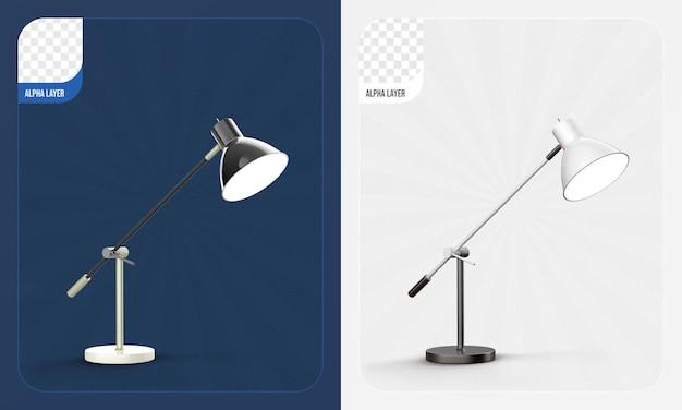 책상 램프 3d 렌더링 절연
