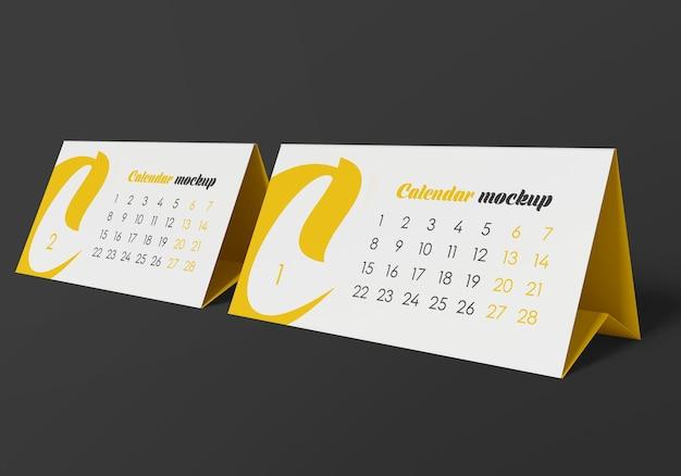 Настольная палатка-календарь макет