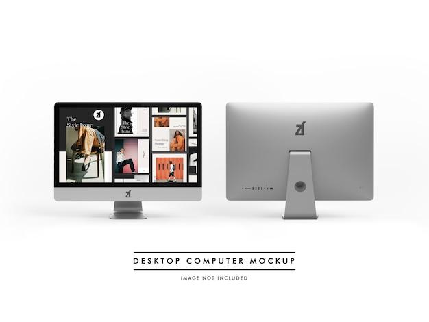 Desktop computer mockup and scene generator