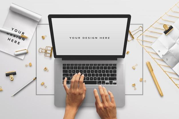 Desktop laptop mockup