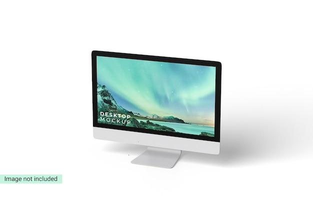 分離されたデスクトップモックアップデザイン