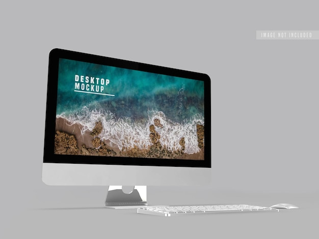 Desktop mockup design template