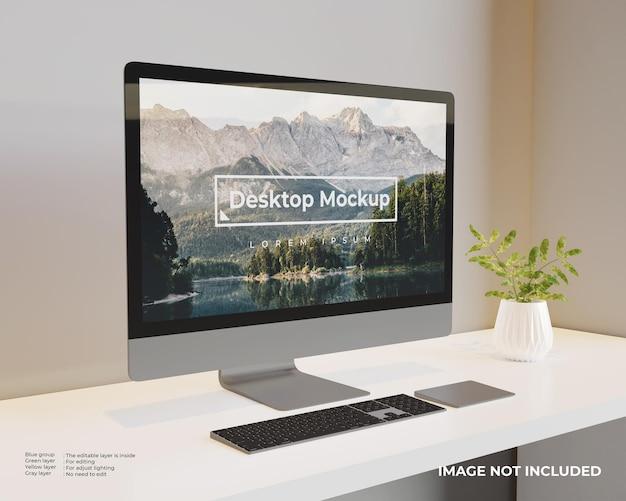 デスクトップモックアップ左側面図