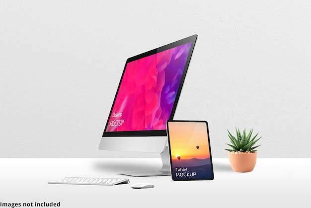 The desktop mockup