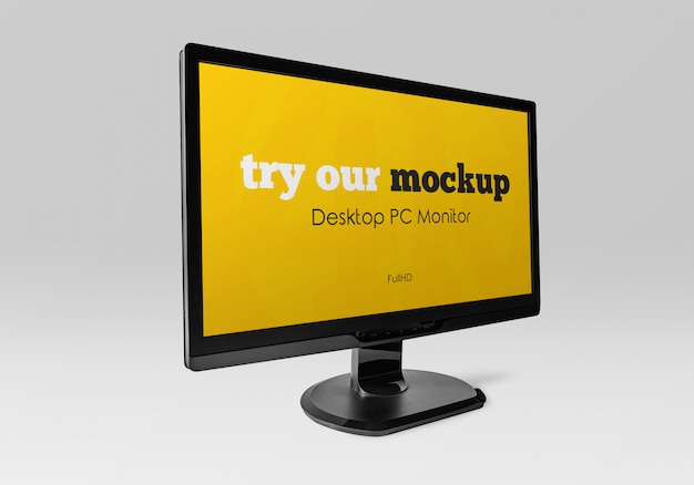 Desktop pc monitor mockup