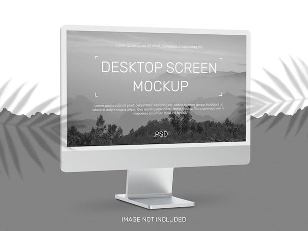 Desktop screen mockup design