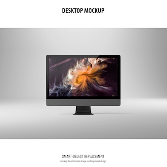 Desktop screen mockup