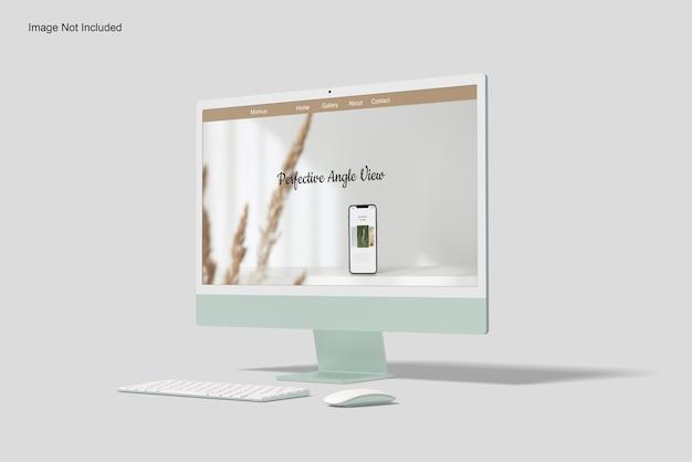 Мокап экрана рабочего стола