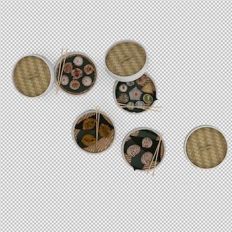 Dessert 3d isolated render