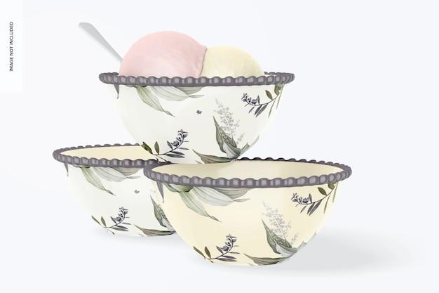 Мокап десертных чаш