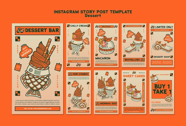 История десерта в instagram