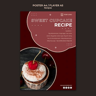 Dessert recipes flyer template