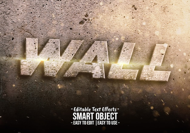 Destroy wall text style effect