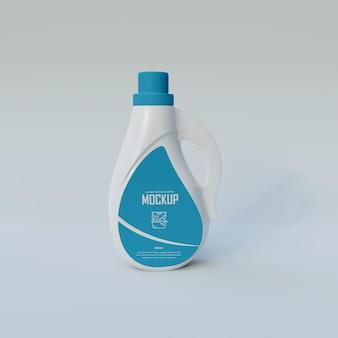 Мокап бутылки моющего средства psd premium