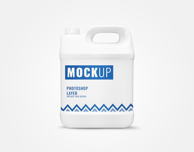 Detergent gallon bottle mockup
