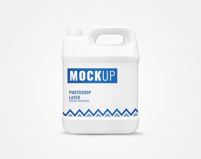 Detergent gallon bottle mockup
