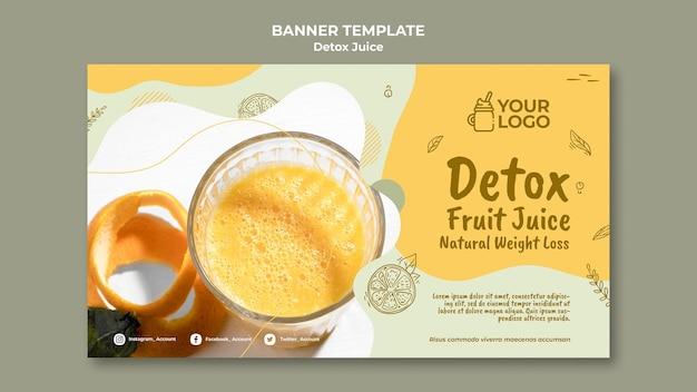 Detox juice concept banner template