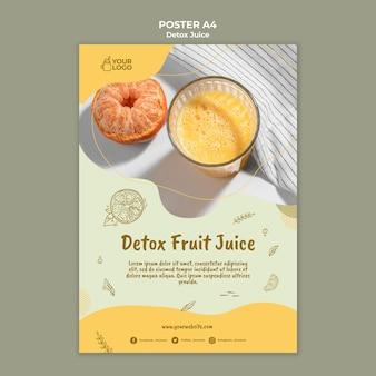 Detox juice concept poster template
