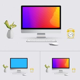 Devices mock up template