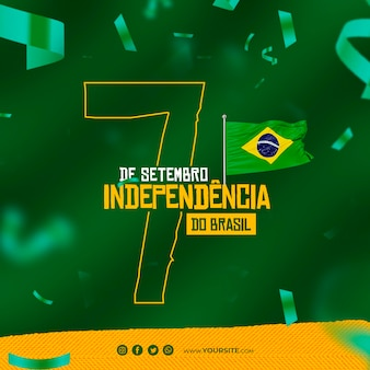 Dia da independencia do brazil post for social media independence day