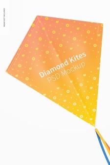 다이아몬드 비행 연 모형, 정면도