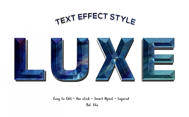 Diamond luxe font effect