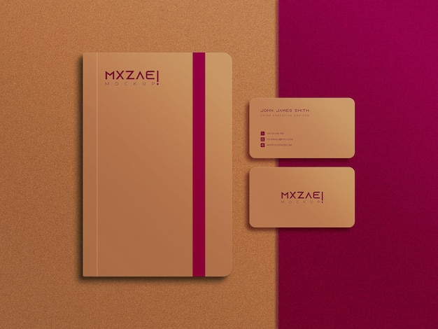 Шаблон макета дневника и визитки