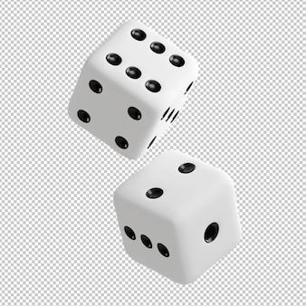 Игральные кости 3d illustraton