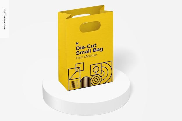 Мокап высеченного небольшого бумажного пакета