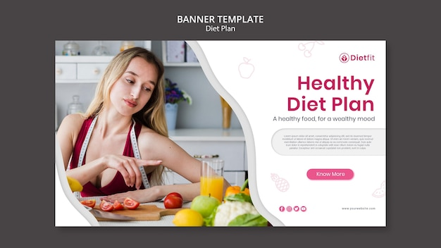 Diet plan banner template