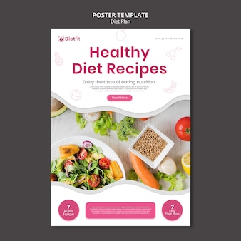 Diet plan flyer template