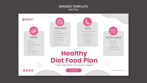 Diet plan template banner
