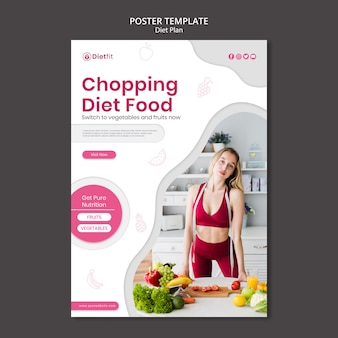Diet plan template flyer
