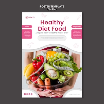 Diet plan template poster