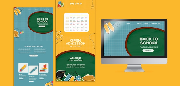 Different colorful templates for school