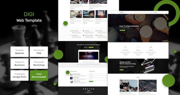 Digiサービスおよびマーケティングwebテンプレート