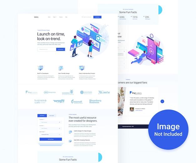 Digital agency and business psd website design