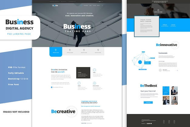 Digital agency landing page template