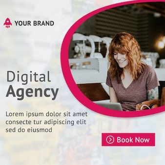 Digital agency mockup